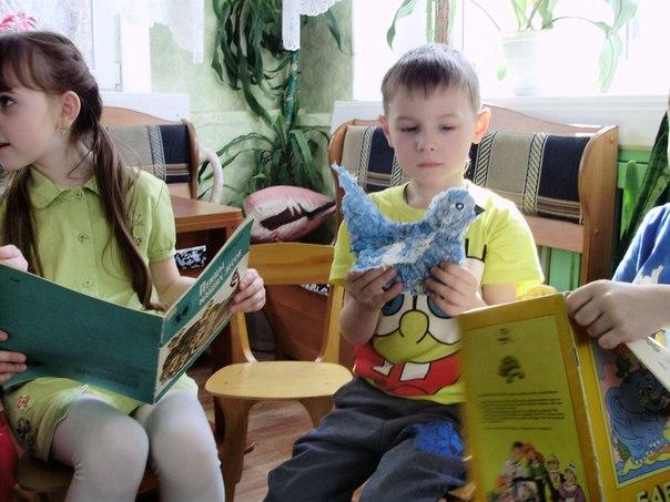 "ребята из детского сада ""Звёздочка"" Кимрская библиотека"