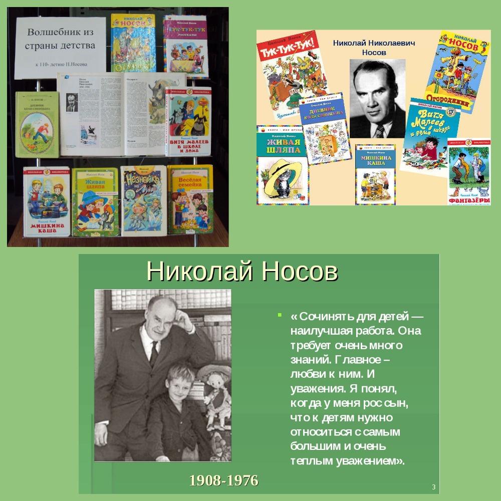 110 лет со дня рождения Николая Николаевича Носова